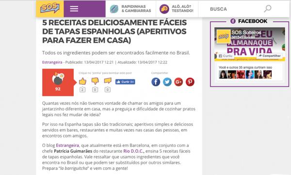 SOS Solteiros Tapas Espanholas