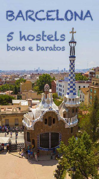 5 hostels baratos em Barcelona