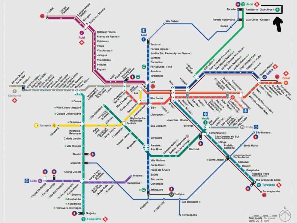 trem-aeroporto-Guarulhos-mapa