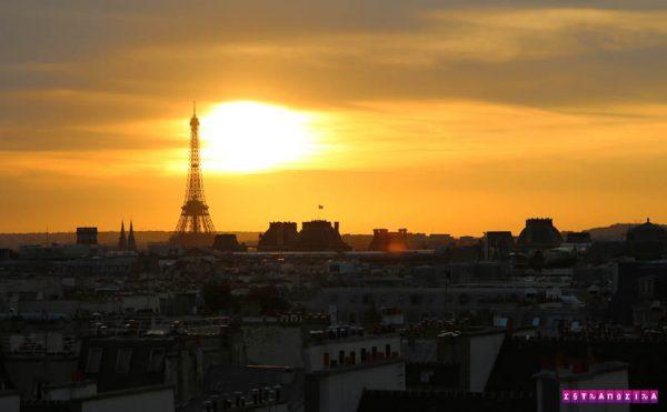 Paris-Centre-georges-pompidou-por-do-sol