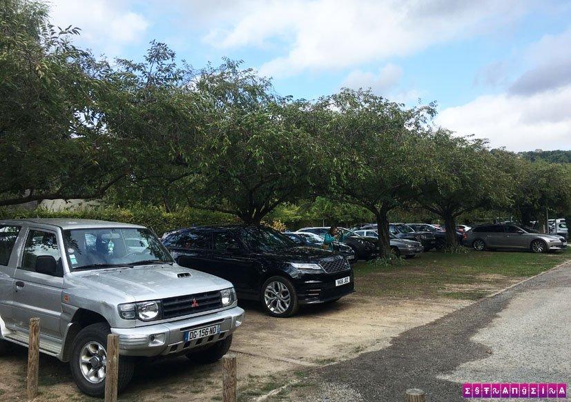 como-chegar-nos-jardins-de-monet-giverny-estacionamento-carro