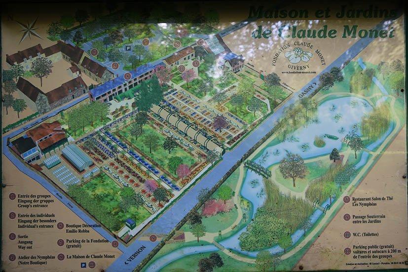 Jardins-de-monet-giverny-mapa