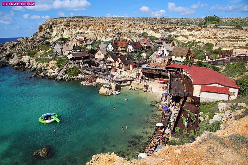 Malta-praias-anchor-Bay-poppeye