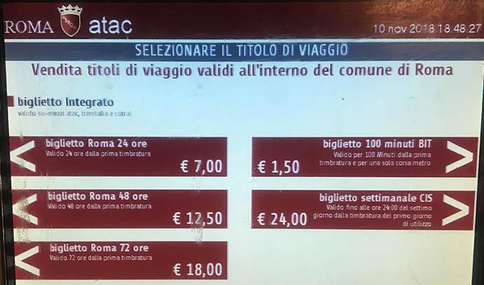 Quanto-custa-viajar-para-Roma-transporte