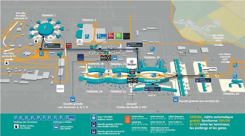 Aeroporto Cdg Paris Mapa Estrangeira