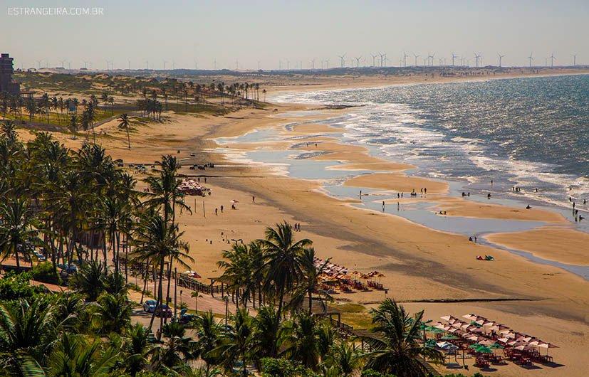 Praia de Lagoinha vista do mirante