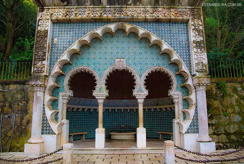 construção de estilo árabe em Sintra