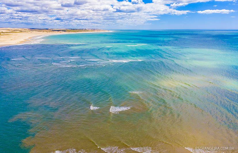 encontro das águas do rio Mundaú e do mar
