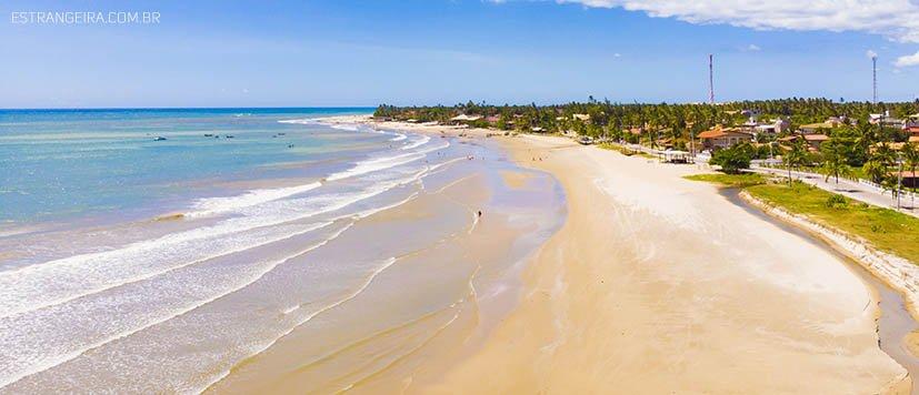 vista aérea da praia de Flecheiras