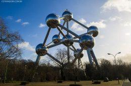 estrutura do Atomium em Bruxelas