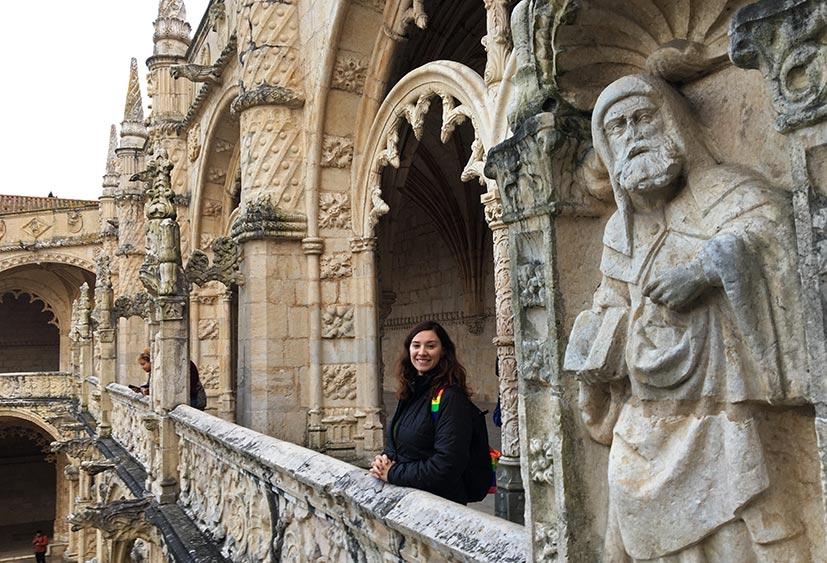 interior do Mosteiro dos Jeronimos
